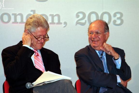 Bill Clinton attended the Progressive Governance Series in 2003.