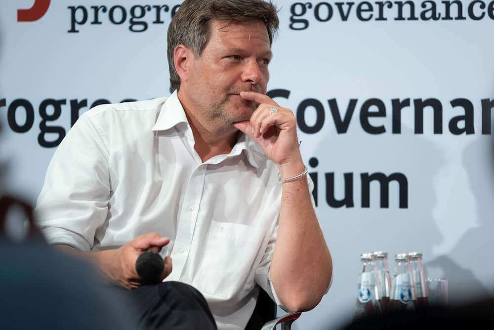 Robert Habeck at the 2019 Progressive Governance Symposium.